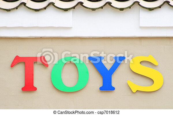 Spielzeuge, zeichen - csp7018612