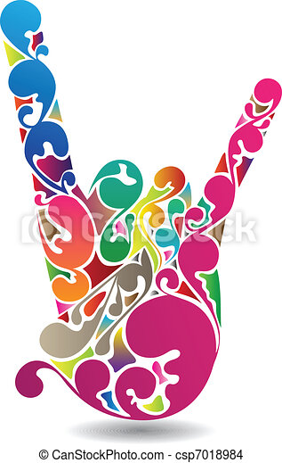 Flourish Hand - csp7018984