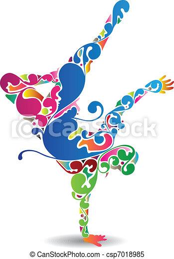 Flourish Break Dancer - csp7018985