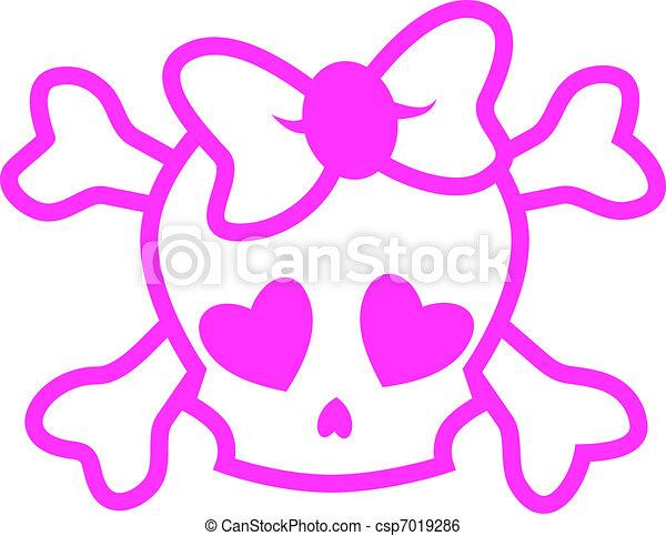 Emo skull - csp7019286