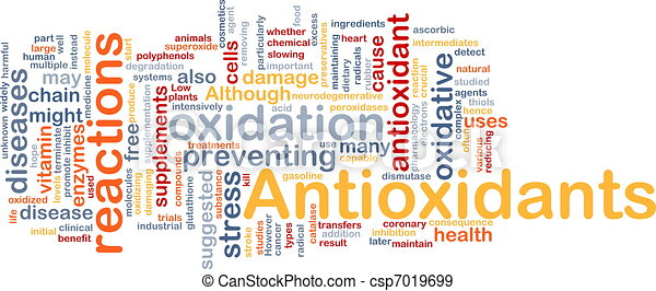 Antioxidants health background concept - csp7019699