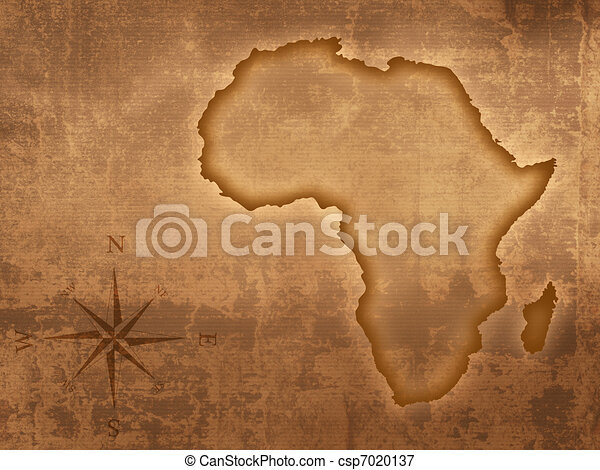 Old style Africa map - csp7020137