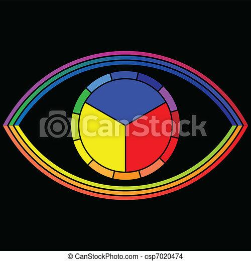 Eye - Color wheel - csp7020474