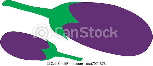 Ripe eggplant - csp7021878