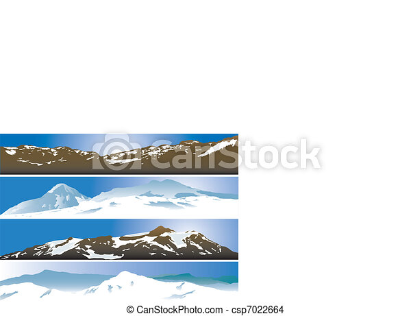 Mountain range background - csp7022664