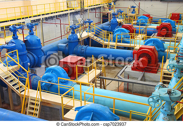 Water pumping station - csp7023937