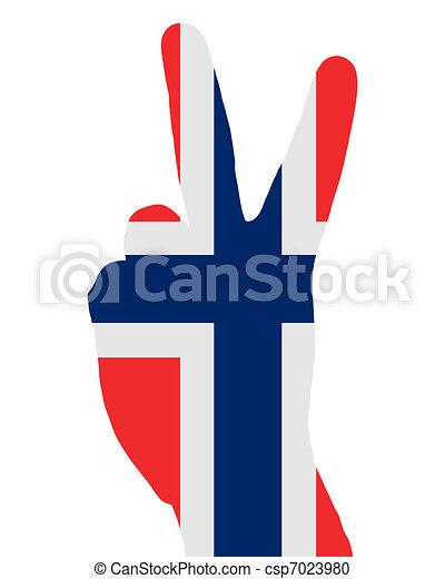 Norwegian finger signal - csp7023980
