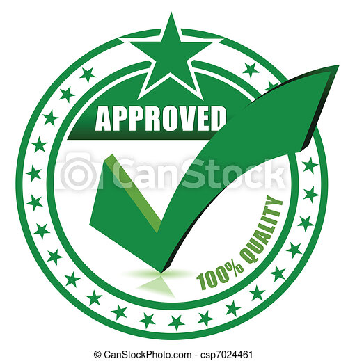 Check approved stamp - csp7024461
