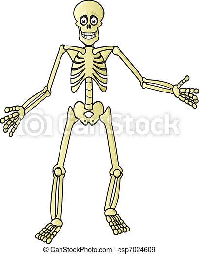 Vecteurs eps de dessin anim squelette a terrifiant - Dessiner un squelette ...