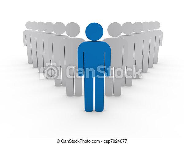 3d team leader boss company  - csp7024677