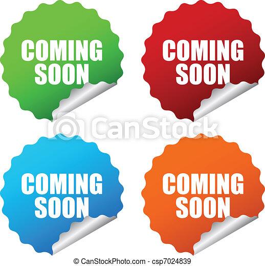 Vector coming soon sticker - csp7024839