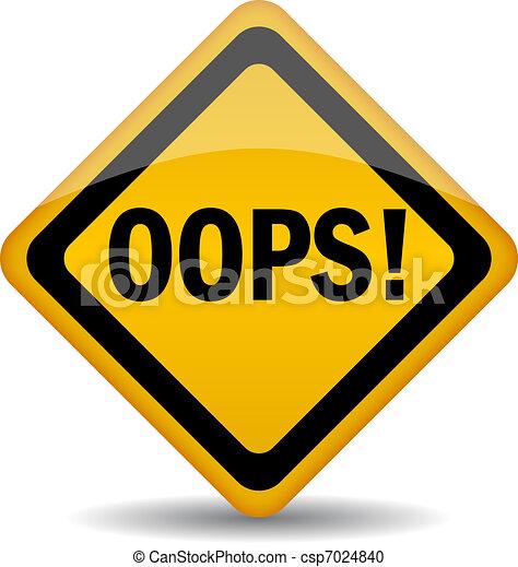 Vector oops sign - csp7024840