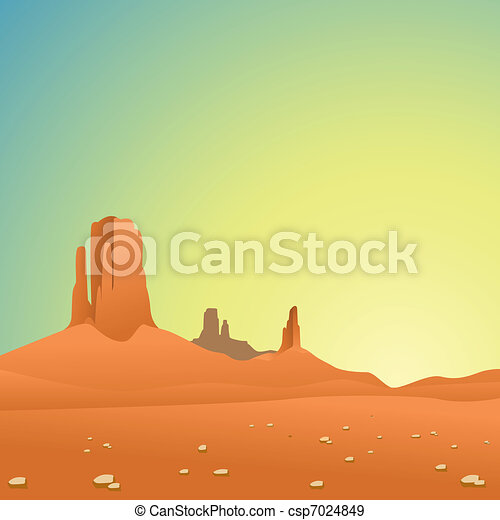 Desert Landscape - csp7024849