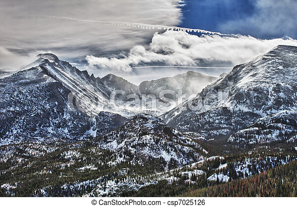 Glacier Gorge in Rocky Mountains National Park - csp7025126