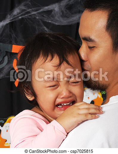 Father Carrying His Crying Child - csp7025815