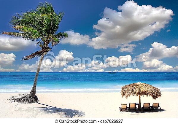 Tropical beach, Chang Islands, Siam Bay,Thailand - csp7026927