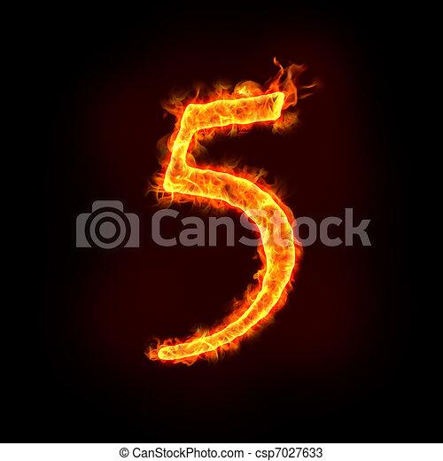 Stock de fotos fuego, números, 5- - Imagenes almacenadas, imágenes ...