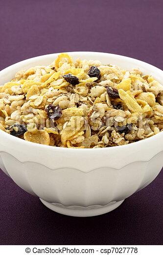 delicious and healthy granola - csp7027778