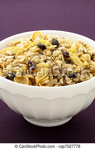 delicious and healthy granola - csp7027778