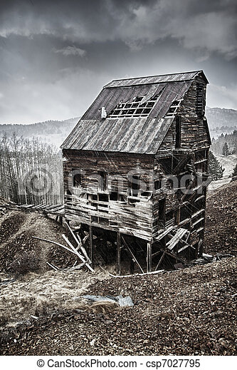 Old abandoned mine in Colorado - csp7027795