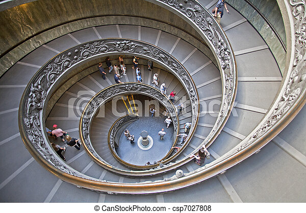 Spiral Staircase in the Vatican Museum - csp7027808
