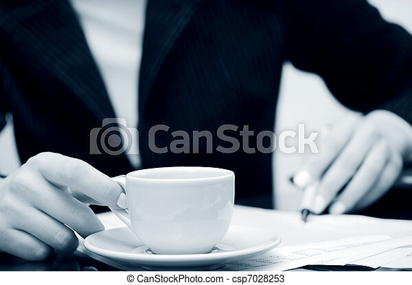 Coffee and accounting - csp7028253