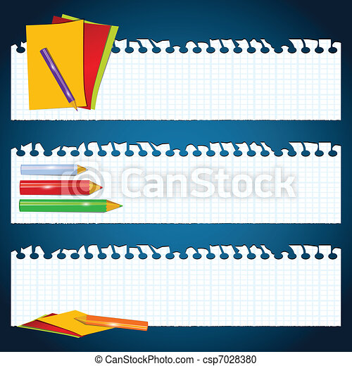 Back to School paper banners - csp7028380