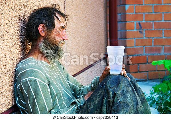 Homeless Alcoholic Sleeping Outdoors Stock Photo 83315038 ...