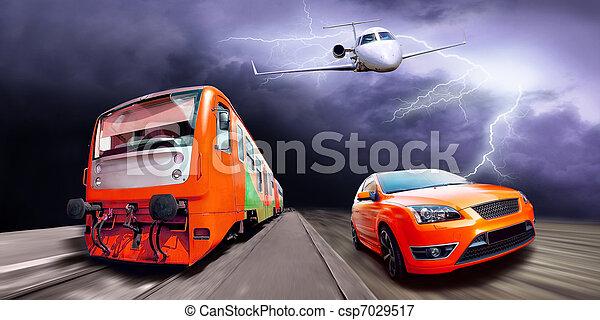 image de train voiture avion sport vitesse train avion et csp7029517 recherchez. Black Bedroom Furniture Sets. Home Design Ideas