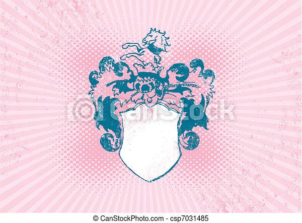 Illustration of historical shield. - csp7031485