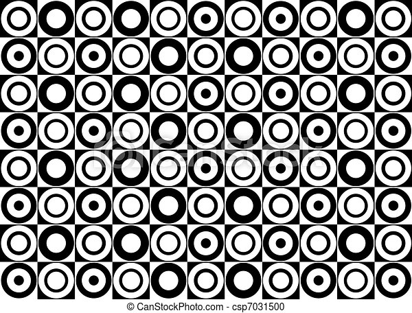 Black and white circle pattern. Vector art - csp7031500