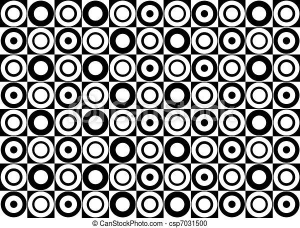 Black and white circle pattern. Vector art - csp7031500