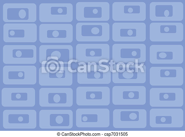 Pattern of blue rectangles. Vector - csp7031505