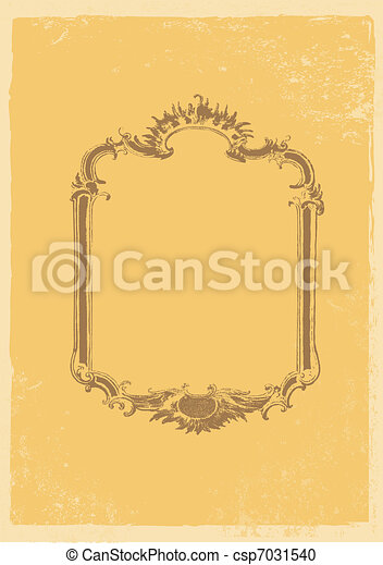 Old fashion vector frame. - csp7031540