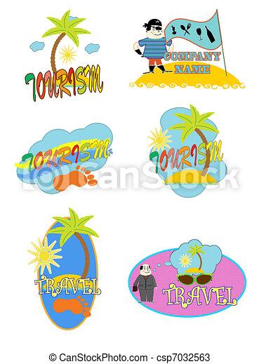 logo. tourism vector - csp7032563