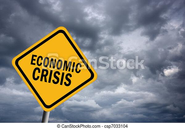 Economic crisis sign - csp7033104