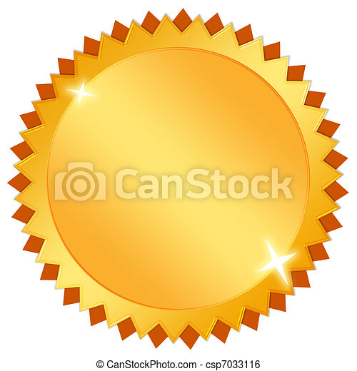 Blank gold icon - csp7033116