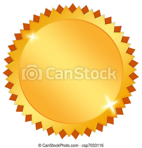 Blank gold icon - csp7033116