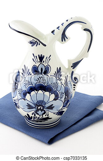 Antique blue delft milk jar - csp7033135