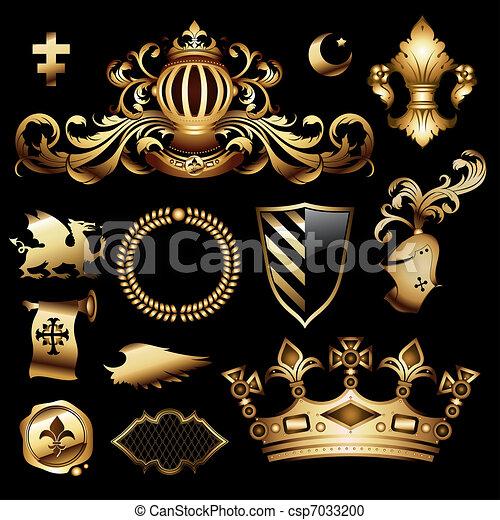 heraldic royal set - csp7033200