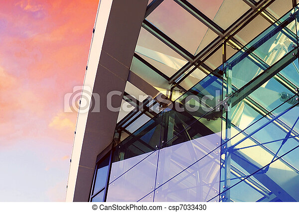 Business buildings architecture on  sky background - csp7033430