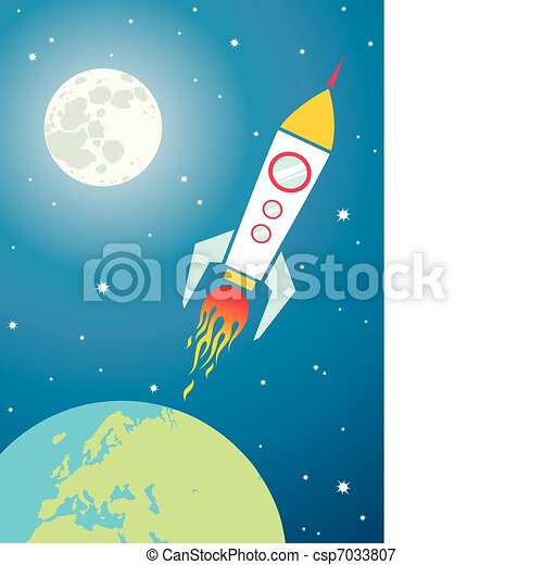 Spacecraft in space - csp7033807
