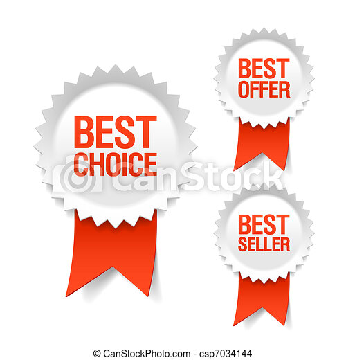 Best choice label with ribbon - csp7034144