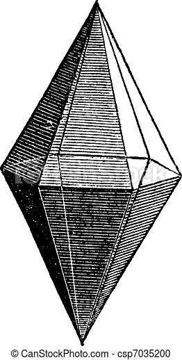 Ruby crystal vintage engraving - csp7035200