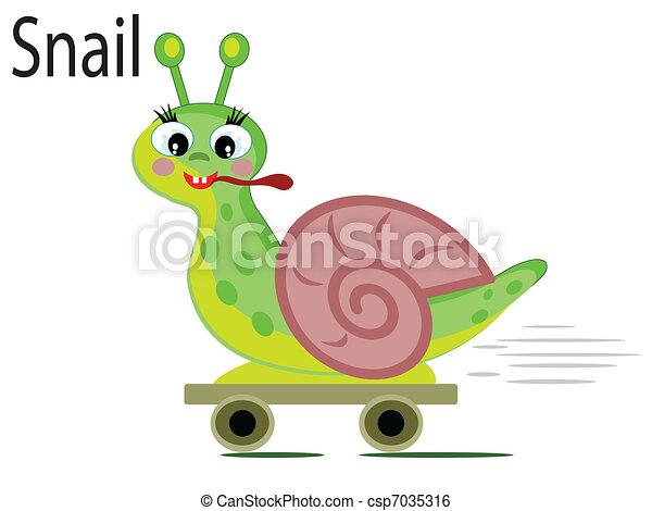 Vector animal, snail - csp7035316