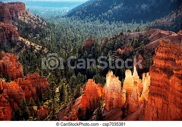 Scenic view of Bryce Canyon Southern Utah USA - csp7035381