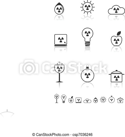 Radiation icons set. - csp7036246