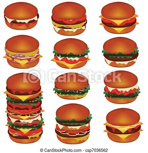 hamburgers - csp7036562