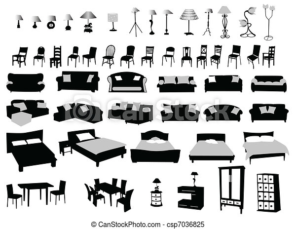 Clipart Vector Of Furniture And Lighting Modern