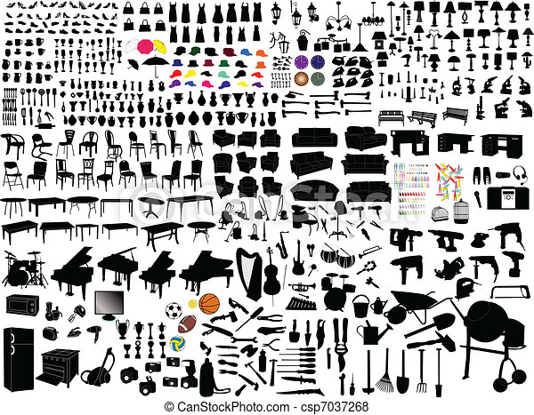 Collection of household items - csp7037268